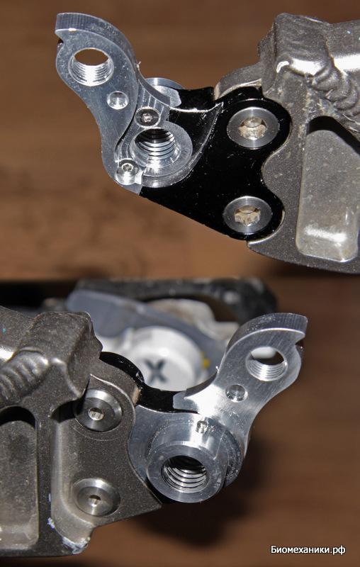 Ремонтный дропаут Nukeproof на раме велосипеда
